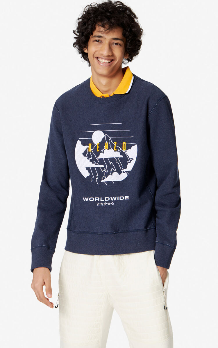 NAVY BLUE 'KENZO Mountain' sweatshirt for women