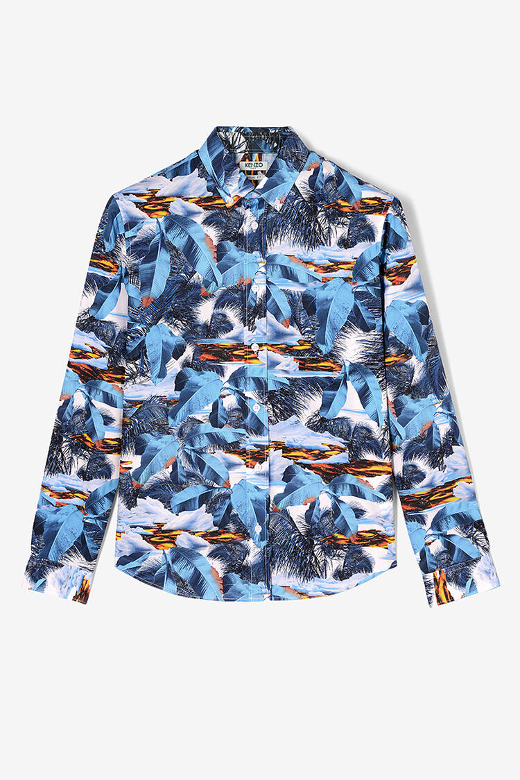TURQUOISE 'Tropical Ice' Shirt for women KENZO