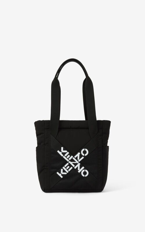 BLACK KENZO Sport small tote bag for unisex