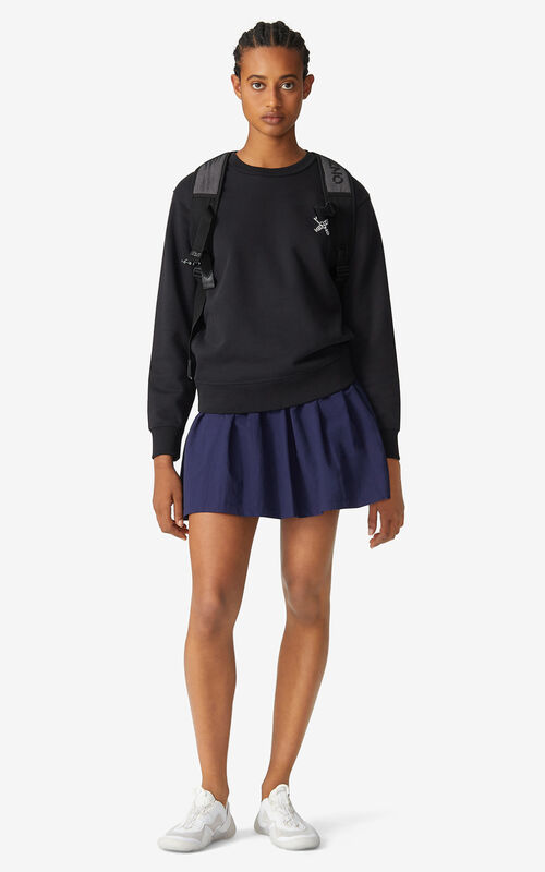 BLACK KENZO Sport 'Little X' sweatshirt for women