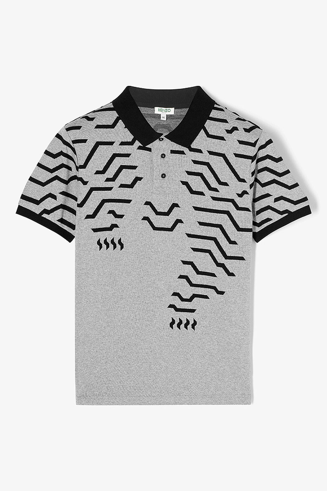 DOVE GREY Geo Tiger polo shirt for women KENZO