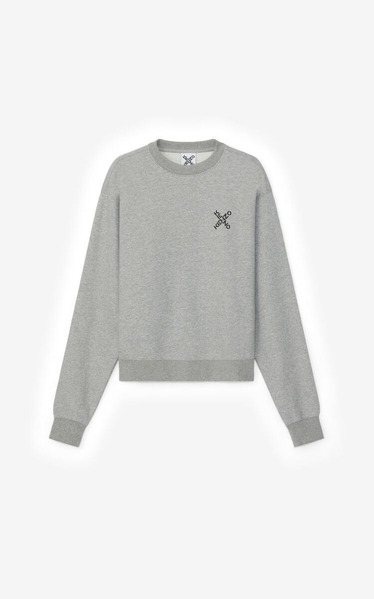 PEARL GREY KENZO Sport 'Little X' sweatshirt for men