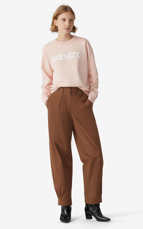 FADED PINK KENZO Logo sweatshirt for women