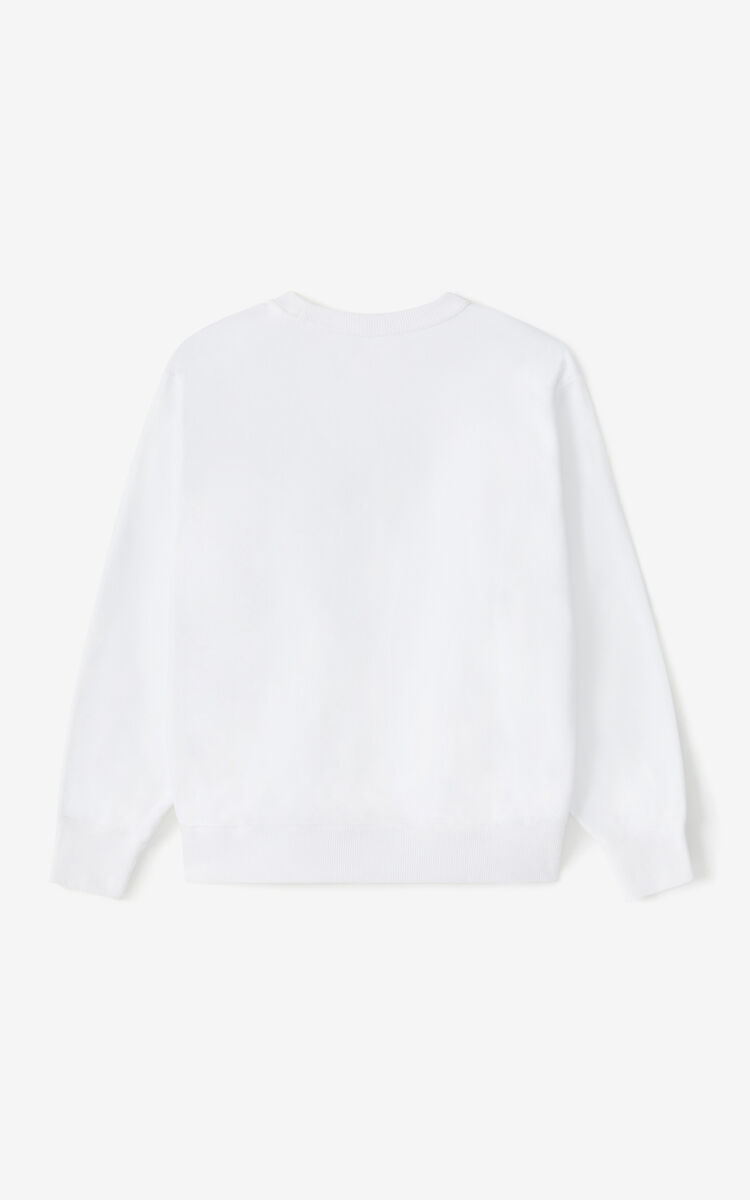 WHITE K-Tiger sweatshirt for unisex KENZO