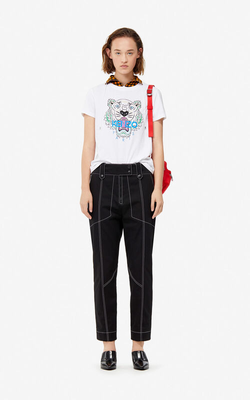 5d2cac4a ... BLACK High-waisted trousers for women KENZO