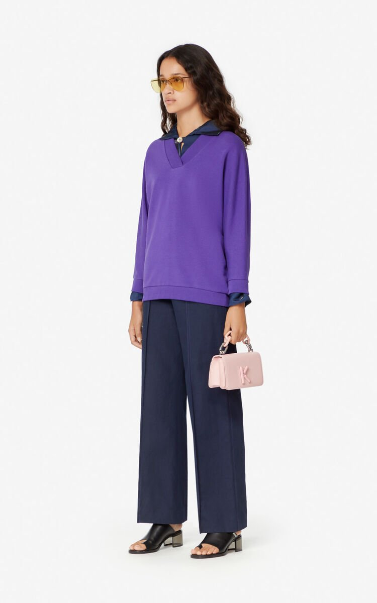 AUBERGINE KENZO Logo Sweatshirt for women