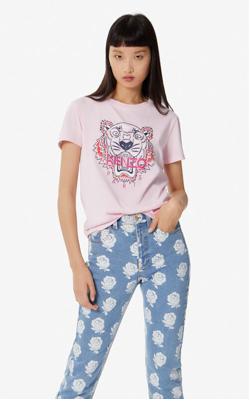 2dbd2ed3 PASTEL PINK Tiger t-shirt for women KENZO ...