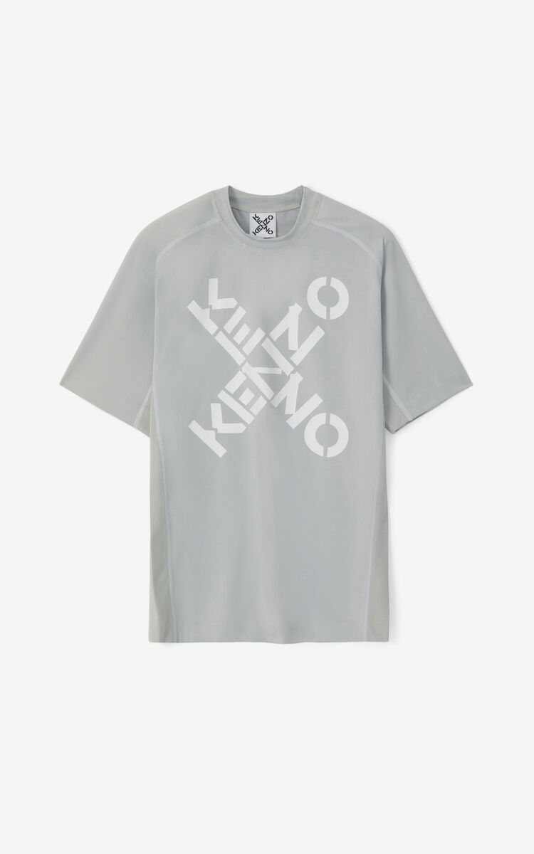 PALE GREY KENZO Sport slim-fit T-shirt  for men