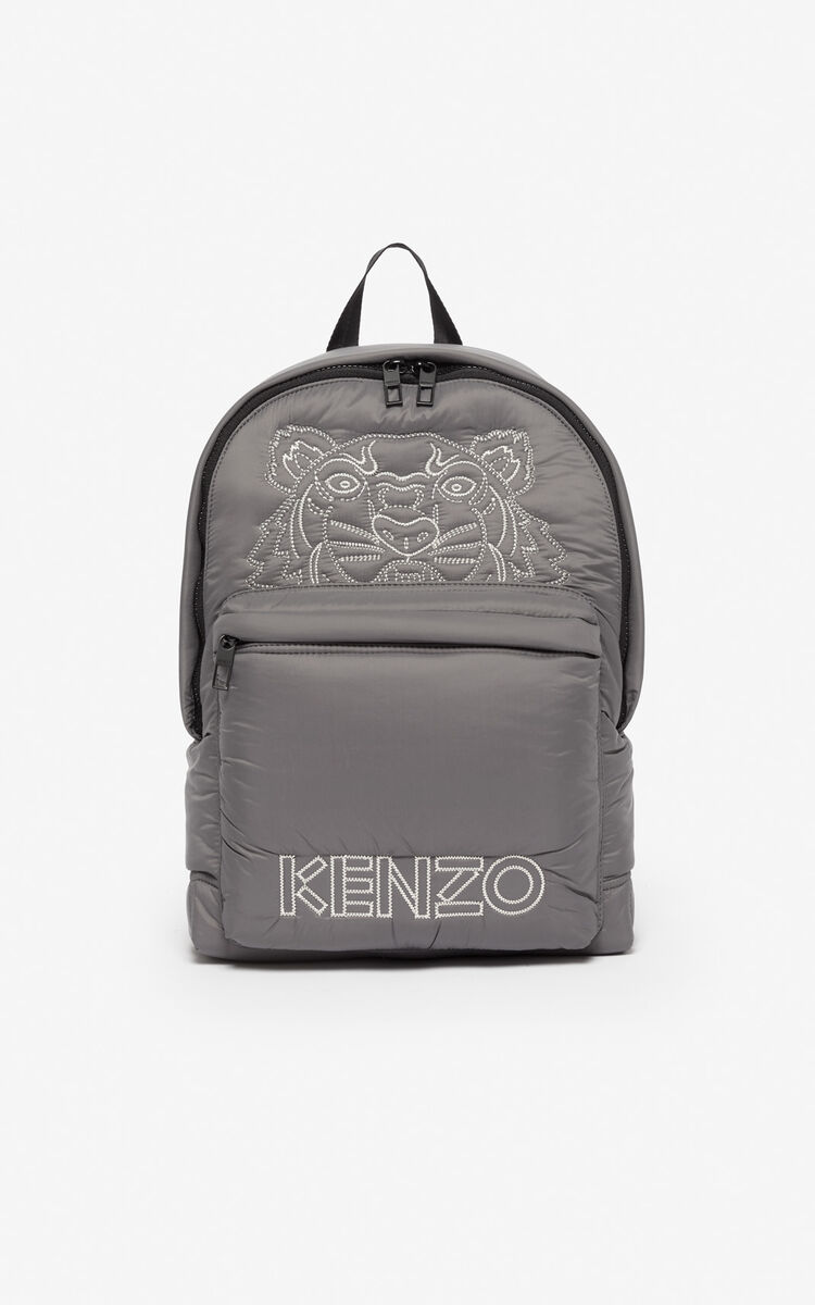 ANTHRACITE Large 'Capsule Expedition' Tiger backpack for women KENZO