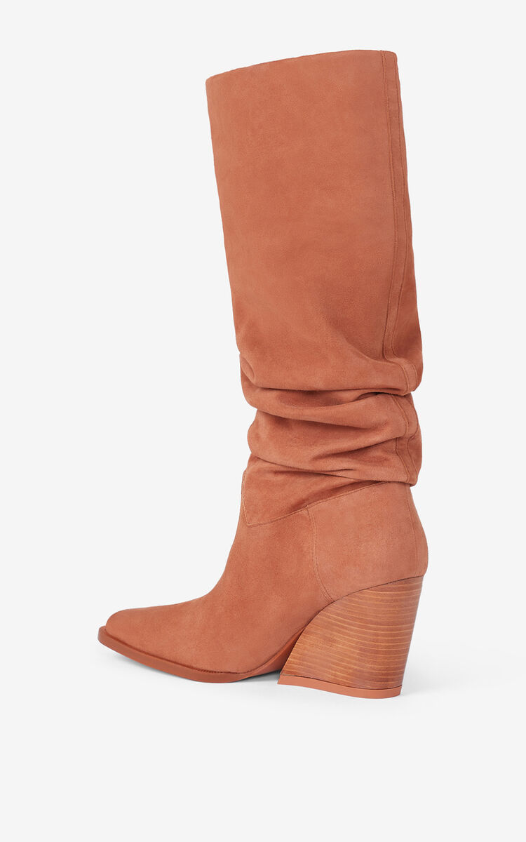 COPPER BILLOW heeled leather boots for women KENZO