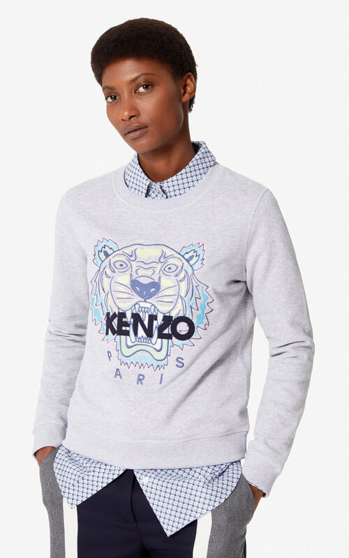 909f1ef1 PEARL GREY Tiger sweatshirt for women KENZO ...
