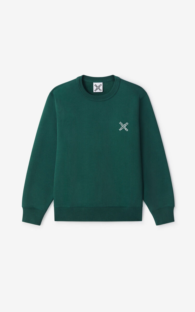 GREEN KENZO Sport 'Little X' sweatshirt for men