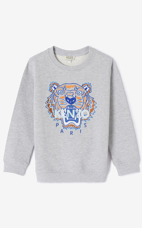 MIDDLE GREY Tiger Sweatshirt for unisex KENZO