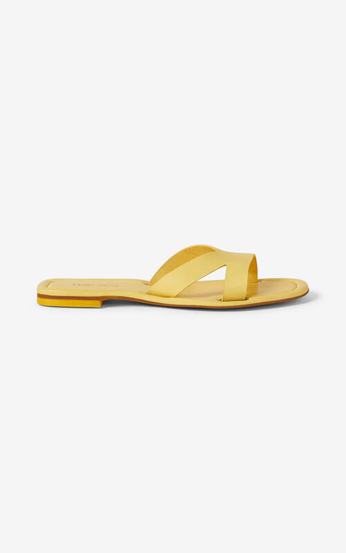 LEMON OPANKA flat leather mules for unisex KENZO