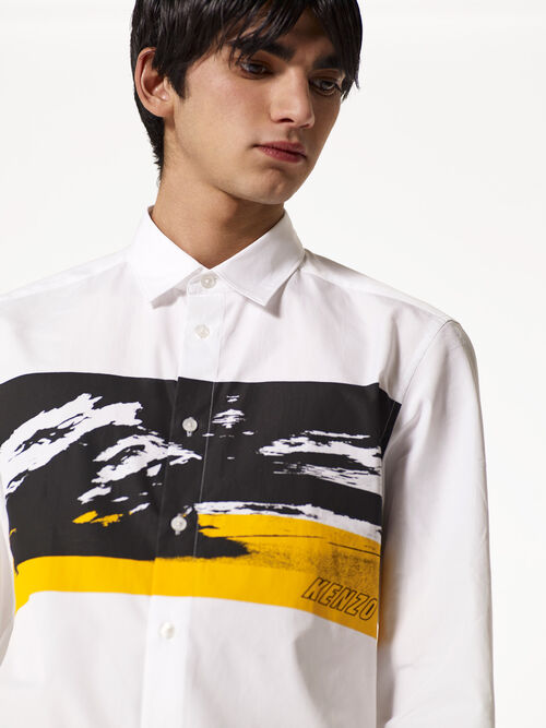 WHITE Tropical Ice Abstract Shirt for men KENZO