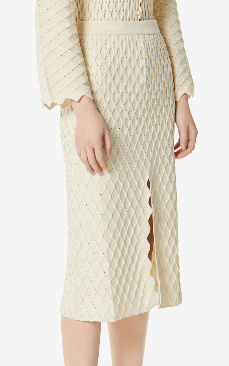 OFF WHITE 'High Summer Capsule Collection' textured midi skirt for women KENZO