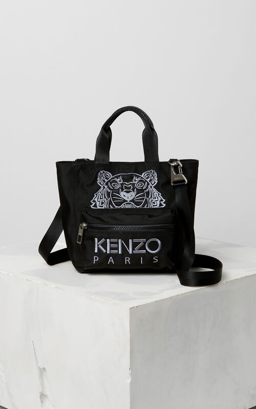BLACK Mini Tiger tote bag for unisex KENZO