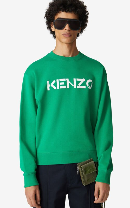 GREEN KENZO Logo sweatshirt for women