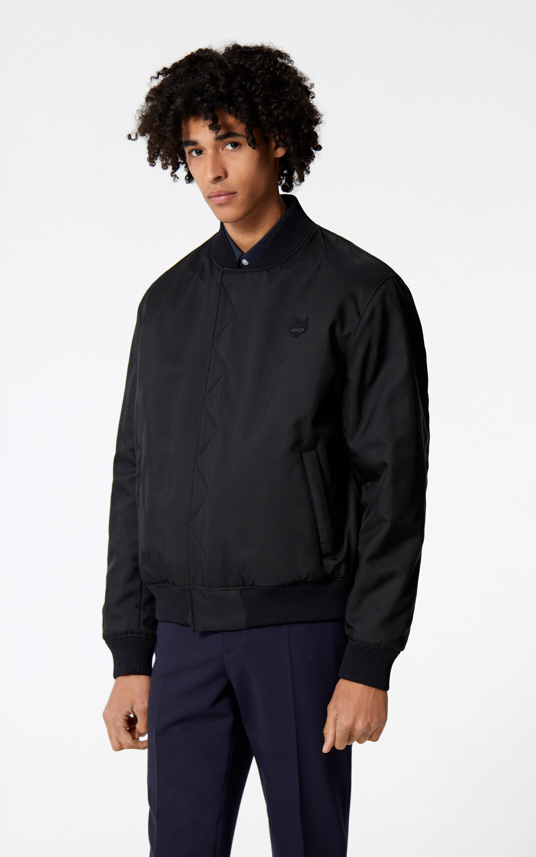 BLACK Tiger reversible jacket for men KENZO