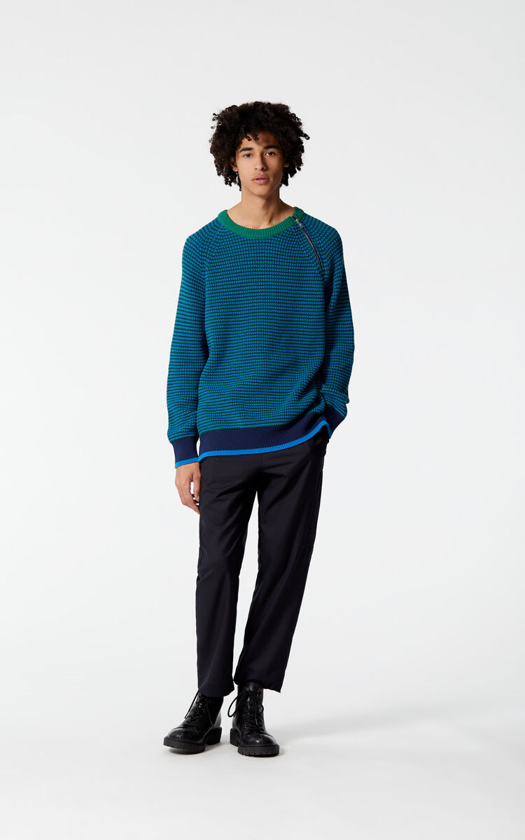 FRENCH BLUE KENZO Logo jumper for men