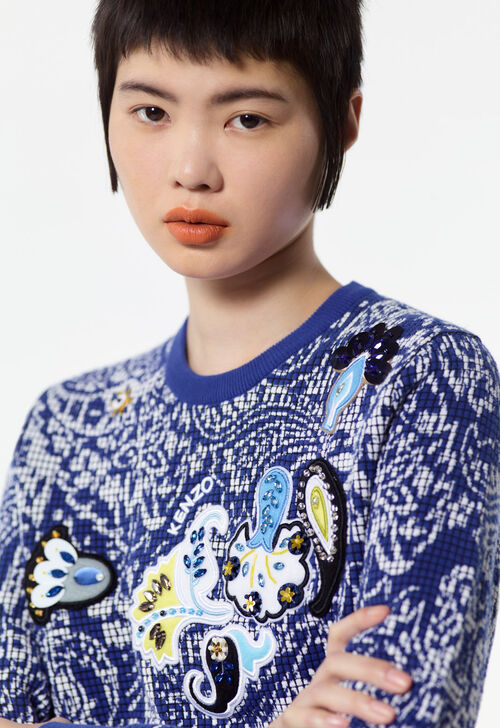 FRENCH BLUE Patterned jumper for women KENZO
