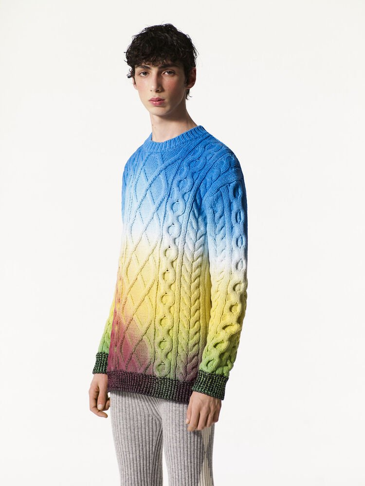 DEEP FUSCHIA Northern Lights sweater for men KENZO
