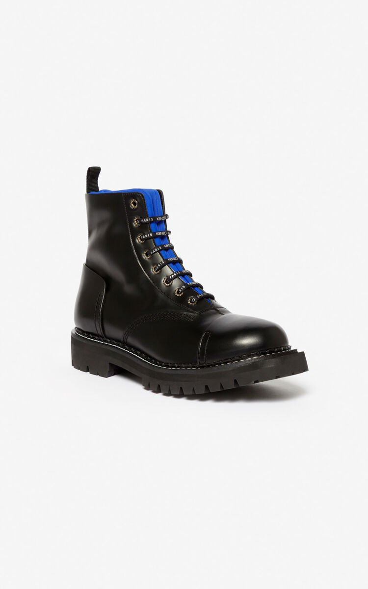 FRENCH BLUE Pike two-tone boots for men KENZO