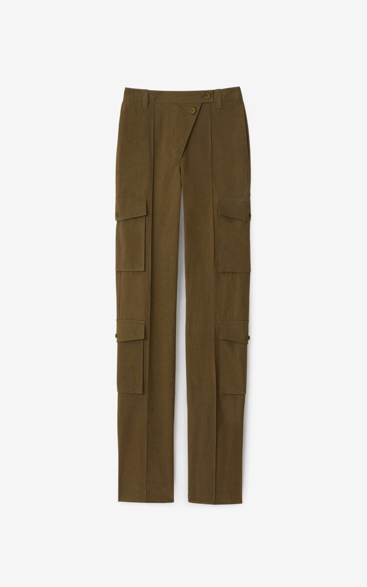 KHAKI Utility trousers for women KENZO