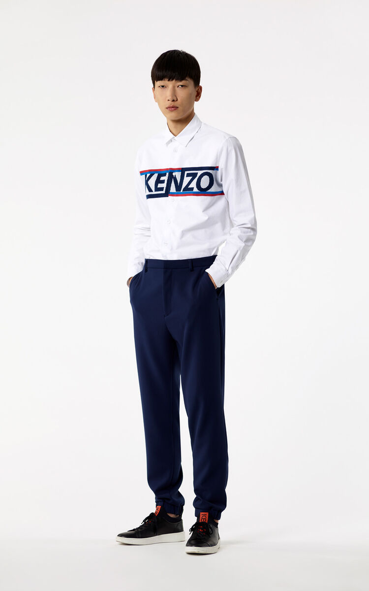 WHITE KENZO mesh shirt for men