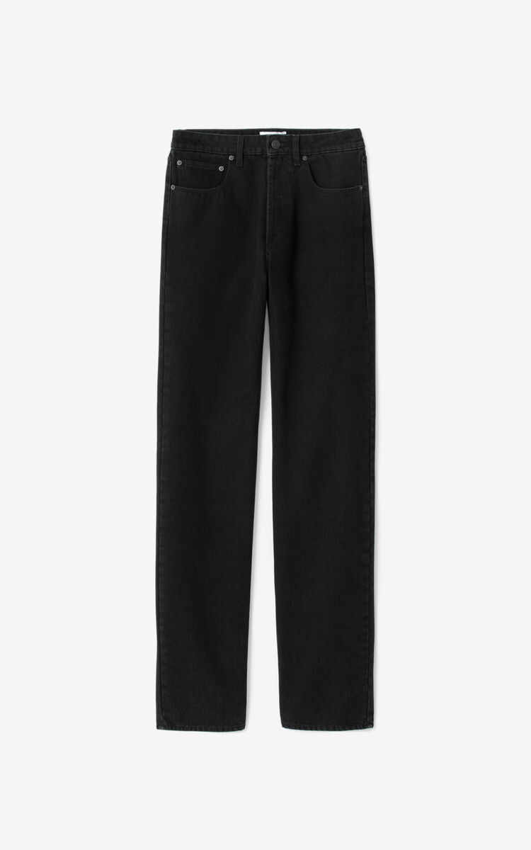 BLACK Straight-cut jeans for women KENZO