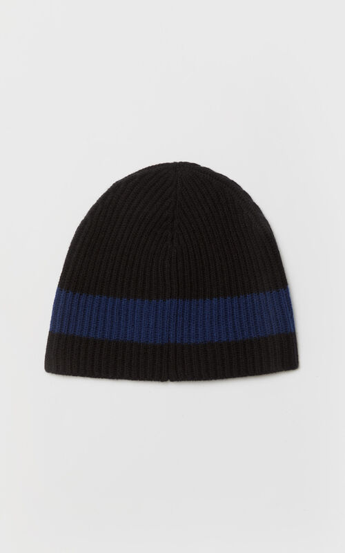MIDNIGHT BLUE Tiger wool beanie 'Holiday Capsule' for unisex KENZO