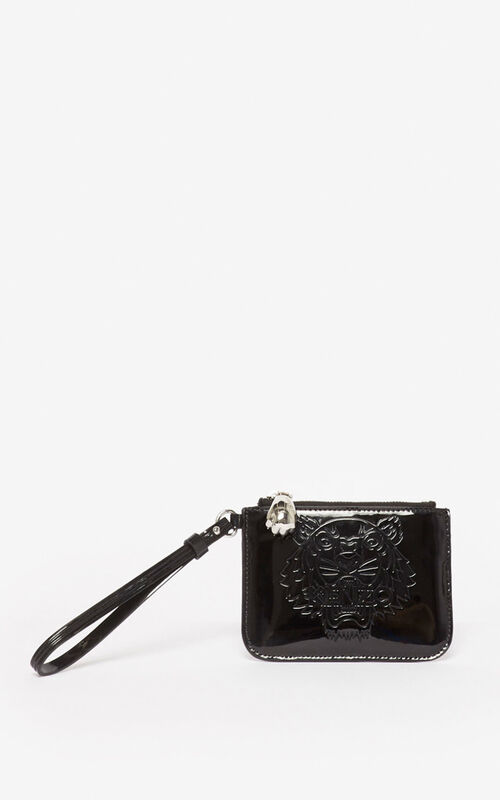 BLACK Mini Tiger clutch for men KENZO