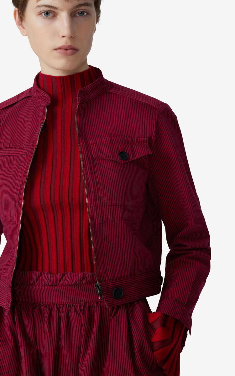 DEEP FUSCHIA Overdyed fitted jacket for women KENZO
