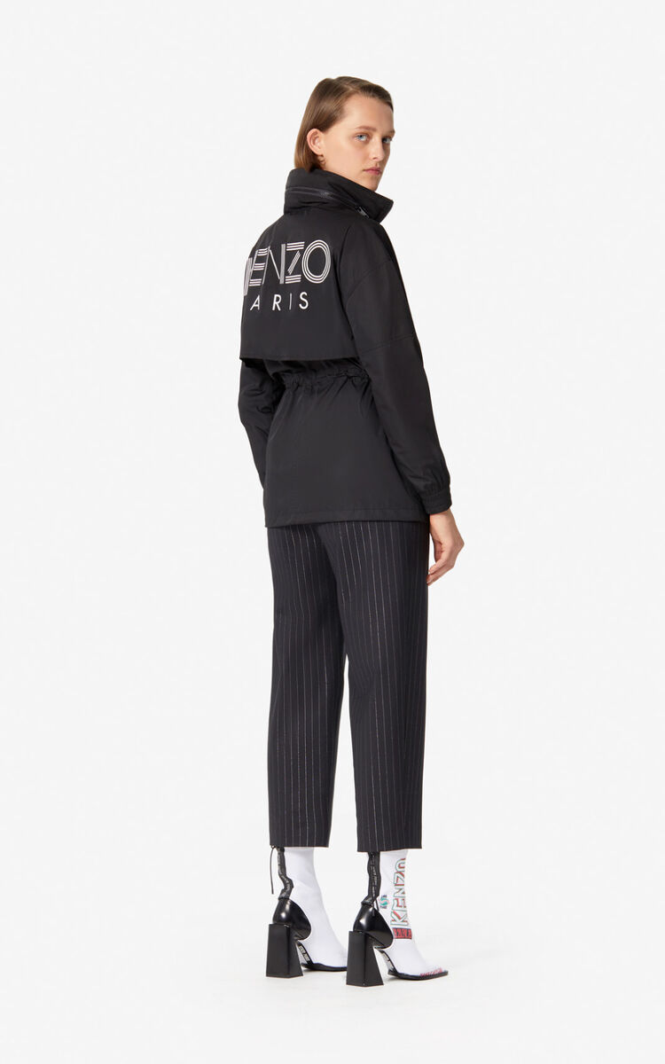 BLACK Striped trousers for women KENZO