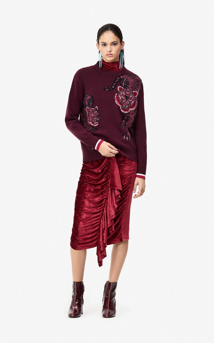 BORDEAUX 'Double Tiger' jumper for women KENZO