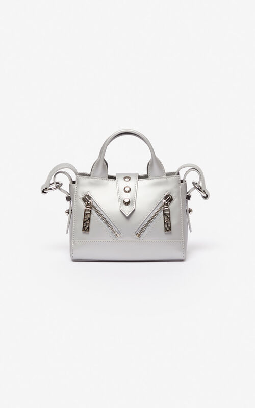SILVER Baby Kalifornia metallic bag for unisex KENZO