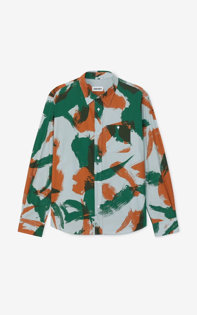 PAPRIKA 'Brushed Camo' casual shirt  for men KENZO