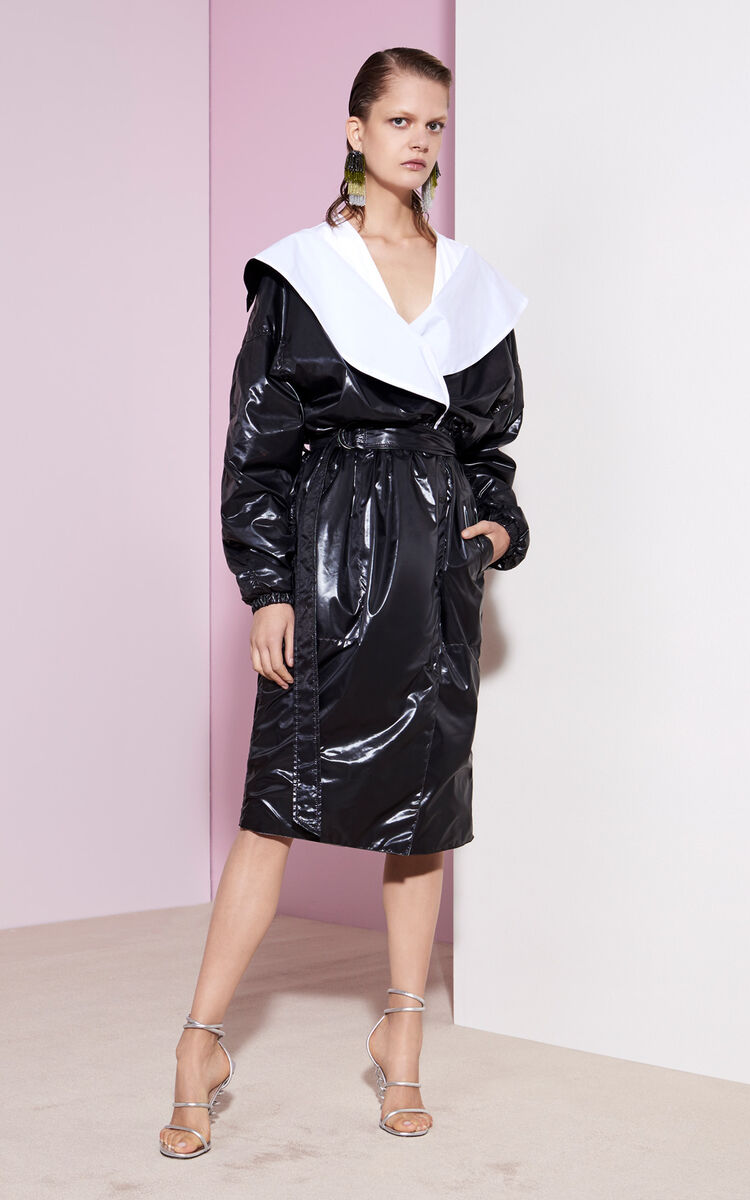 BLACK Shiny Trench for global.none KENZO
