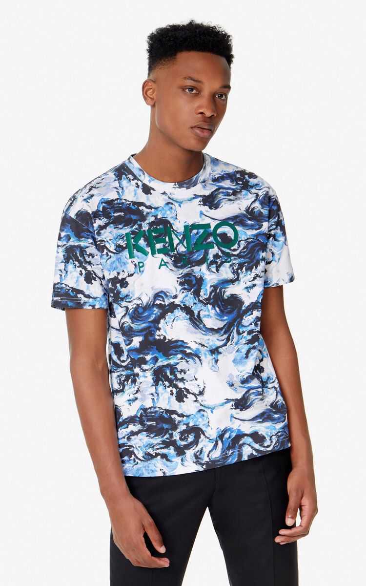 WHITE 'KENZO World' T-shirt for men