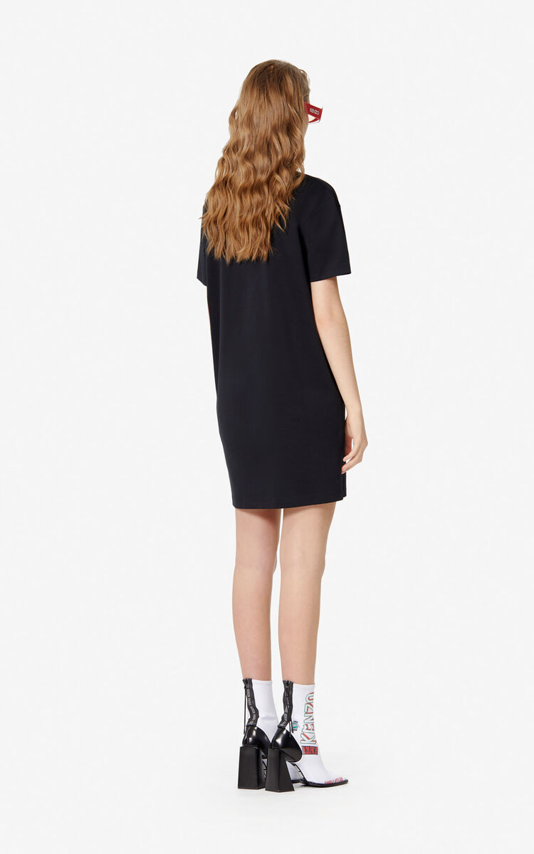 BLACK 'KENZO Mountain' t-shirt dress for women