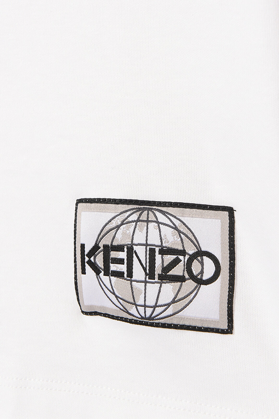 WHITE Peace World' t-shirt for women KENZO