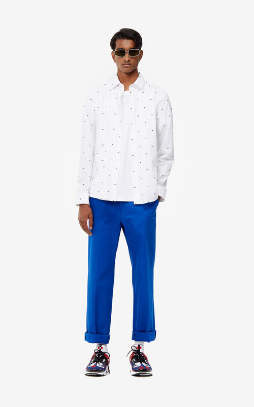 WHITE Slim-fit multi-eye shirt for men KENZO