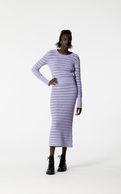 LAVENDER Long skirt with embroidered beads for women KENZO