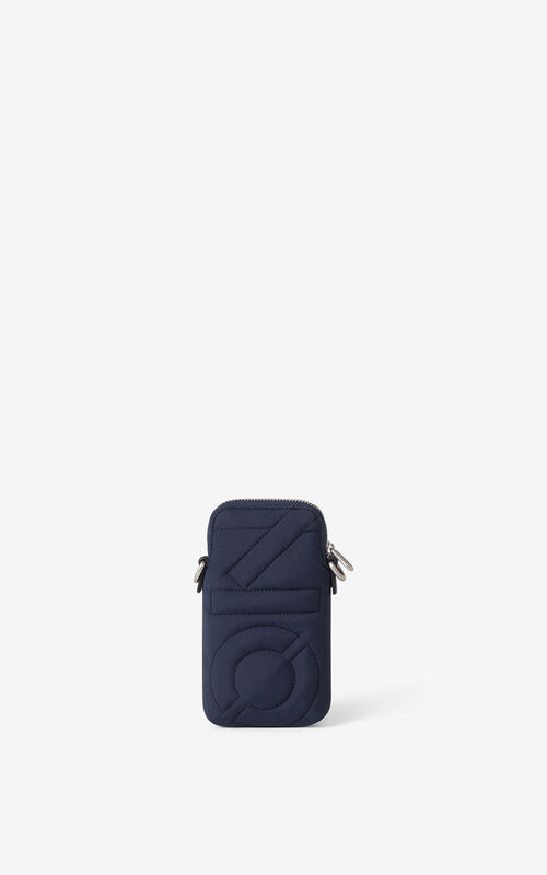NAVY BLUE Arctic phone pouch with strap for unisex KENZO