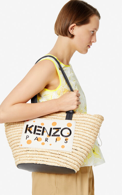 WHITE 'Dots' Summer Basket for women KENZO