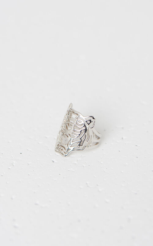 SILVER Medium Tiger Ring KENZO