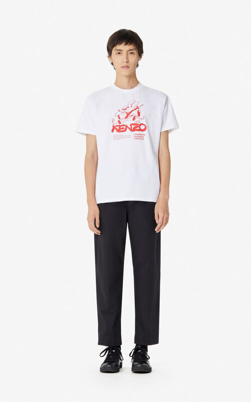 WHITE 'Kung Fu Rat' t-shirt for men KENZO