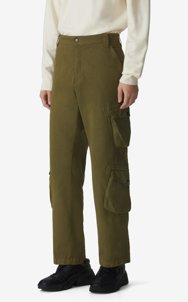 KHAKI Cargo trousers for women KENZO