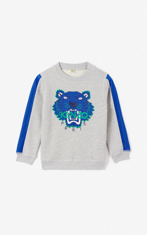 6c4831f3c7dc MIDDLE GREY  Racing  Tiger sweatshirt for unisex KENZO ...