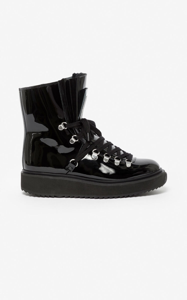 BLACK 'Capsule Expedition' Alaska boots  for women KENZO